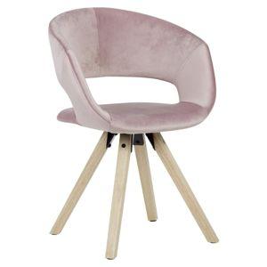 Jídelní židle s područkami růžová