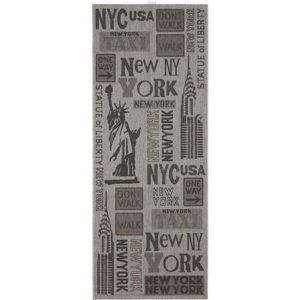 koberec Tkaný na Plocho New York, 80/200cm, Šedá